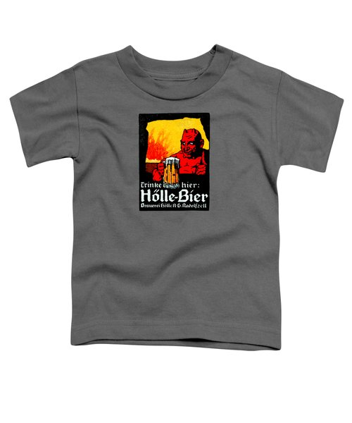 1905 German Beer Poster Toddler T-Shirt by Historic Image