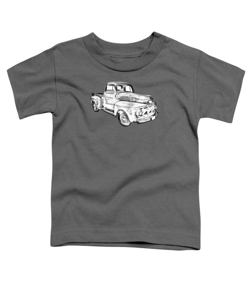 1951 Ford F-1 Pickup Truck Illustration  Toddler T-Shirt by Keith Webber Jr