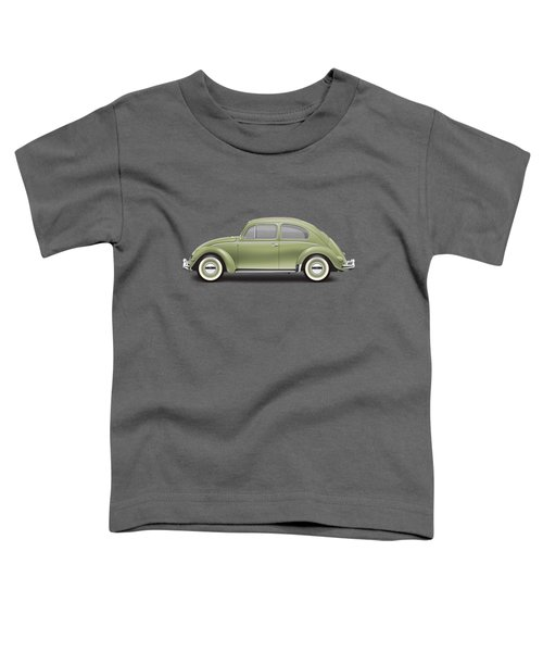 1957 Volkswagen Deluxe Sedan - Diamond Green Toddler T-Shirt by Ed Jackson