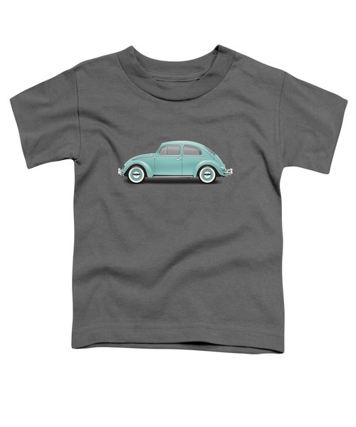 1961 Volkswagen Deluxe Sedan - Turquoise Toddler T-Shirt by Ed Jackson