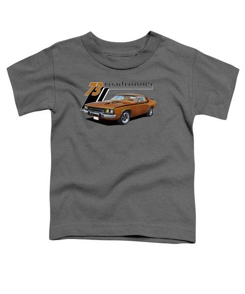 1973 Roadrunner Toddler T-Shirt by Paul Kuras