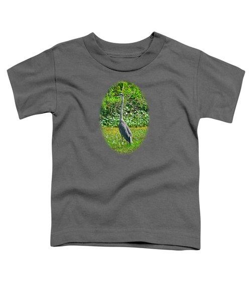Great Blue Heron Toddler T-Shirt by Deborah Good