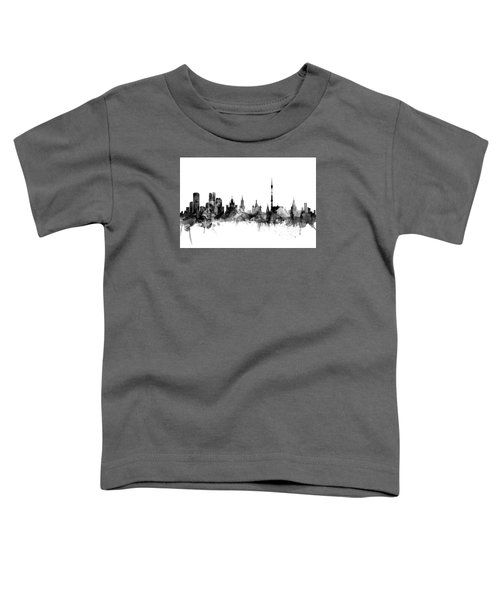 Moscow Russia Skyline Toddler T-Shirt by Michael Tompsett