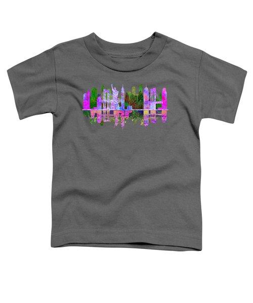 New York Skyline Toddler T-Shirt by John Groves