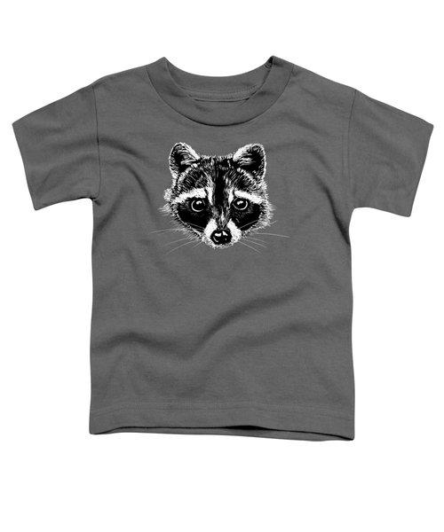 Raccoon Toddler T-Shirt by Masha Batkova