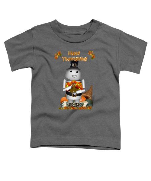 Robo-x9 The Pilgrim Toddler T-Shirt by Gravityx9  Designs