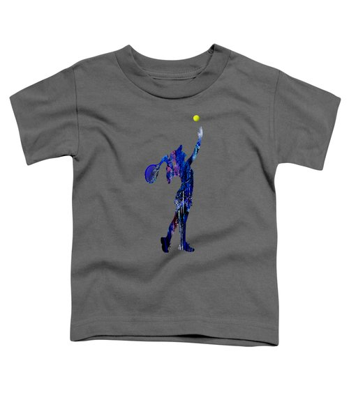 Womens Tennis Collection Toddler T-Shirt by Marvin Blaine