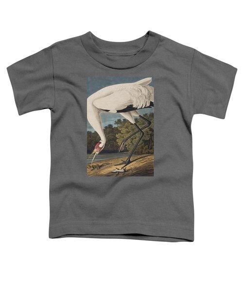 Whooping Crane Toddler T-Shirt by John James Audubon