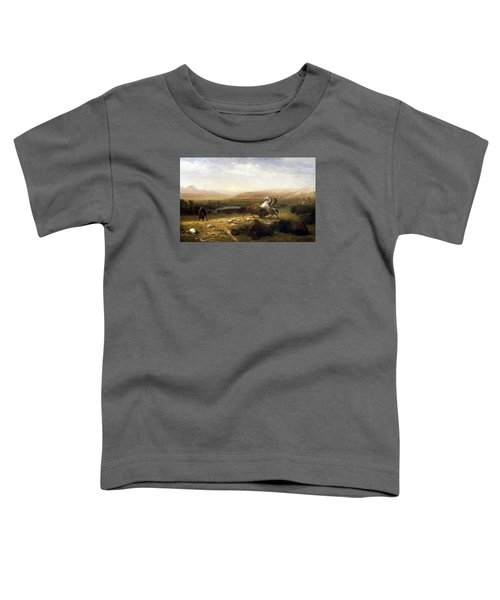 The Last Of The Buffalo  Toddler T-Shirt by Albert Bierstadt