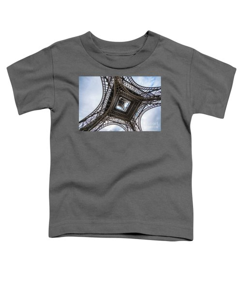 Abstract Eiffel Tower Looking Up 2 Toddler T-Shirt by Mike Reid