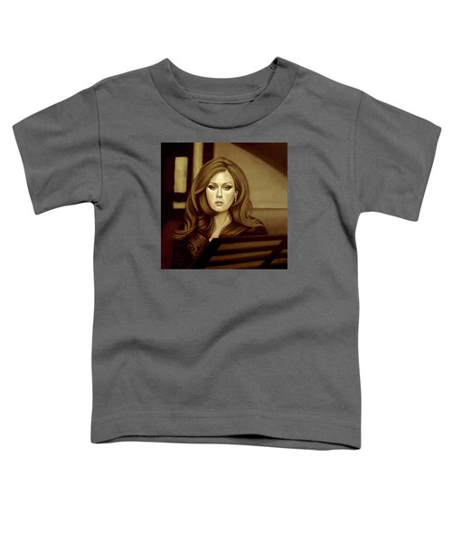 Adele Gold Toddler T-Shirt by Paul Meijering
