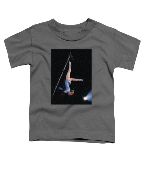 Aerial Acrobat Toddler T-Shirt by Jon Delorme