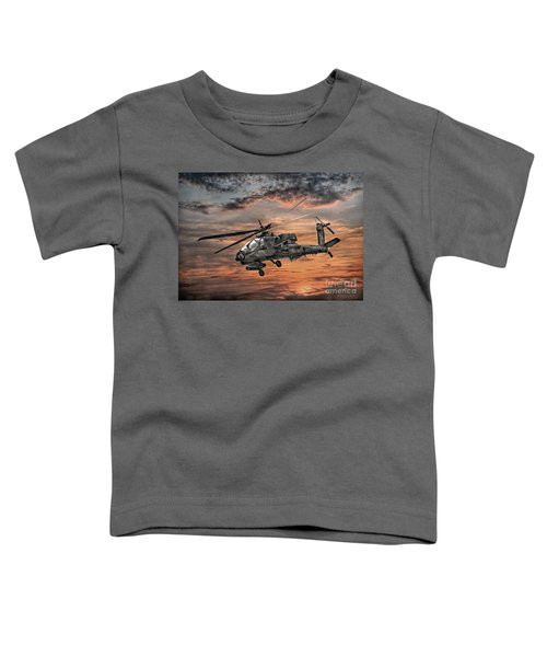 Ah-64 Apache Attack Helicopter Toddler T-Shirt by Randy Steele