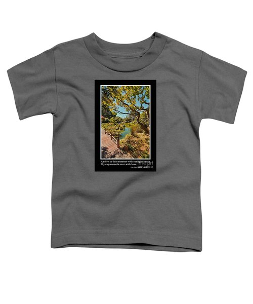 And So In This Moment With Sunlight Above Toddler T-Shirt by Jim Fitzpatrick