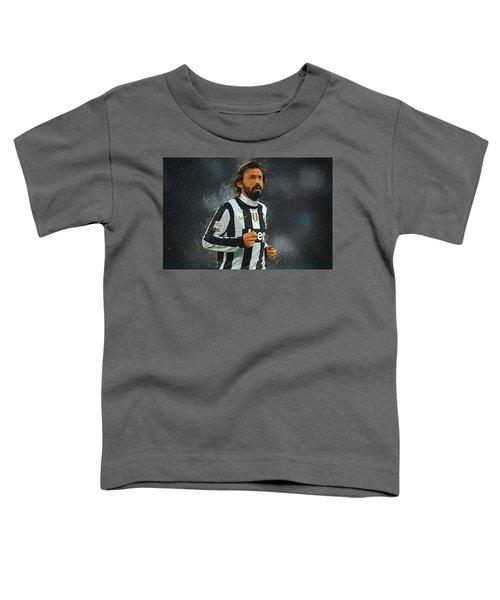 Andrea Pirlo Toddler T-Shirt by Semih Yurdabak
