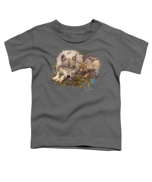 In A Safe Place Toddler T-Shirt by Lucie Bilodeau