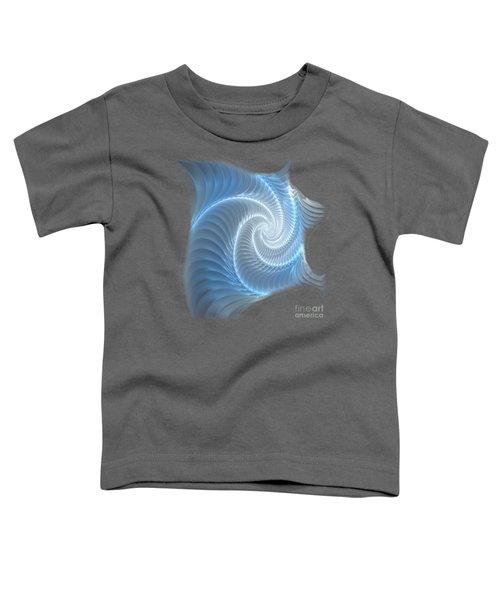 Glowing Spiral Toddler T-Shirt by Anastasiya Malakhova