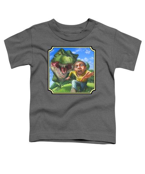 Tyrannosaurus Rex Jurassic Park Dinosaur - T Rex - T Rex - Extinct Predator - Square Format Toddler T-Shirt by Walt Curlee