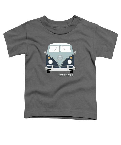 Vw Bus Blue Toddler T-Shirt by Mark Rogan