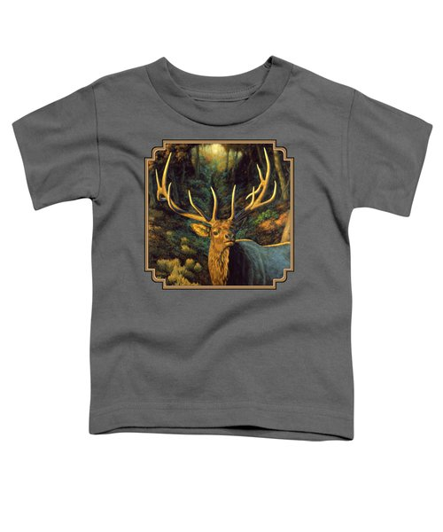 Elk Painting - Autumn Majesty Toddler T-Shirt by Crista Forest