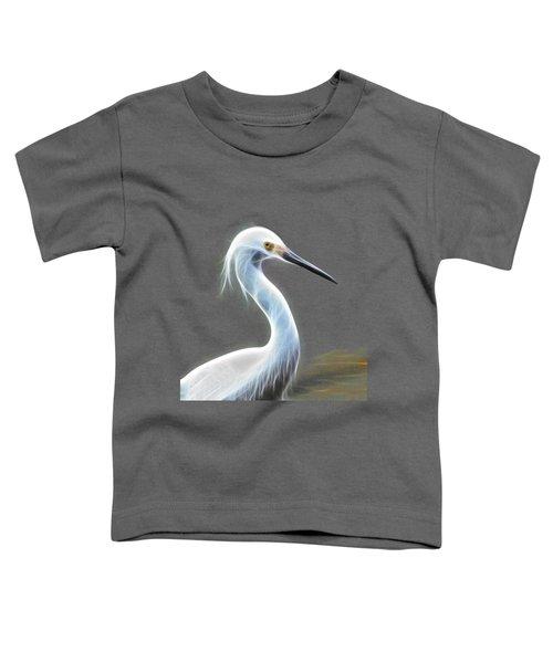 Snow Egret Toddler T-Shirt by Shane Bechler