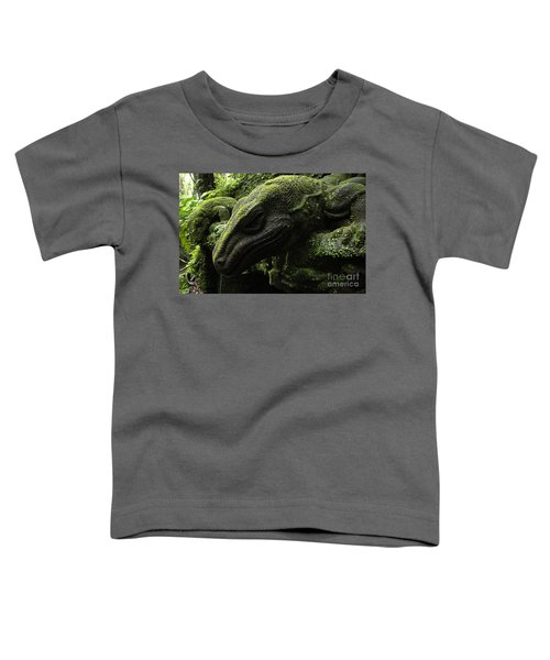 Bali Indonesia Lizard Sculpture Toddler T-Shirt by Bob Christopher