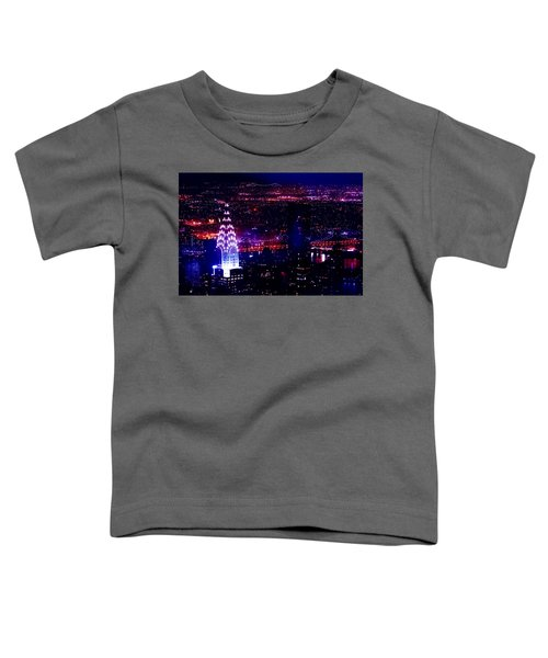 Beautiful Manhattan Skyline Toddler T-Shirt by Az Jackson