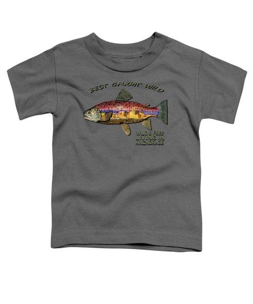Fishing - Best Caught Wild-on Dark Toddler T-Shirt by Elaine Ossipov