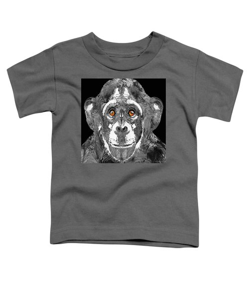 Black And White Art - Monkey Business 2 - By Sharon Cummings Toddler T-Shirt by Sharon Cummings