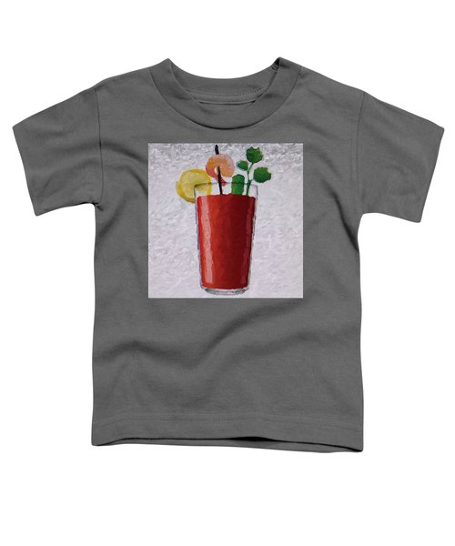 Bloody Mary Emoji Toddler T-Shirt by  Judy Bernier