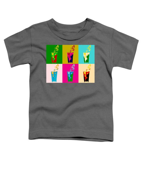 Bloody Mary Pop Art Panels Toddler T-Shirt by Dan Sproul