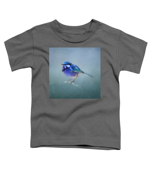 Blue Fairy Wren Toddler T-Shirt by Michelle Wrighton