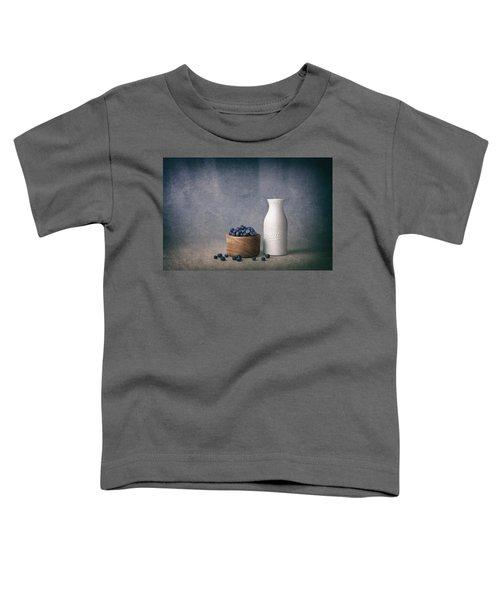 Blueberries And Cream Toddler T-Shirt by Tom Mc Nemar