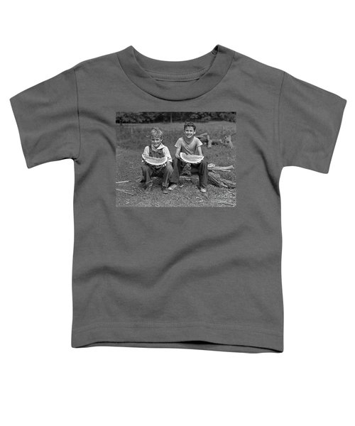 Boys Eating Watermelons, C.1940s Toddler T-Shirt by H. Armstrong Roberts/ClassicStock