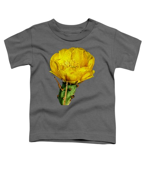 Cactus Flower Op26 Toddler T-Shirt by Mark Myhaver