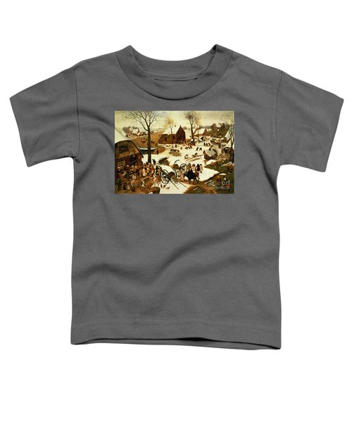 Census At Bethlehem Toddler T-Shirt by Pieter the Elder Bruegel
