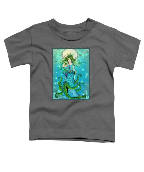 Cephalopod Princess Toddler T-Shirt by Katherine Nutt