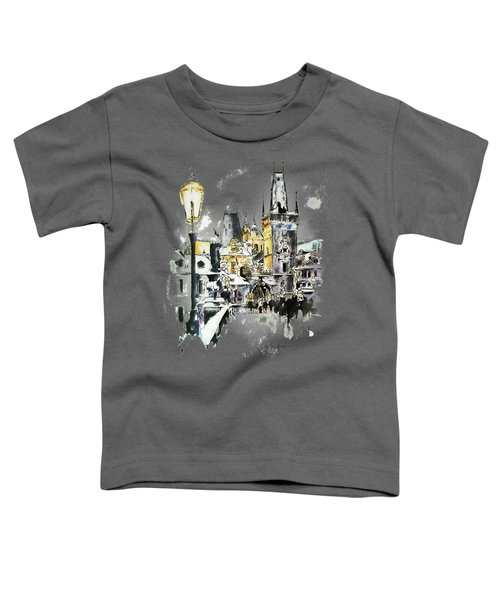 Charles Bridge In Winter Toddler T-Shirt by Melanie D
