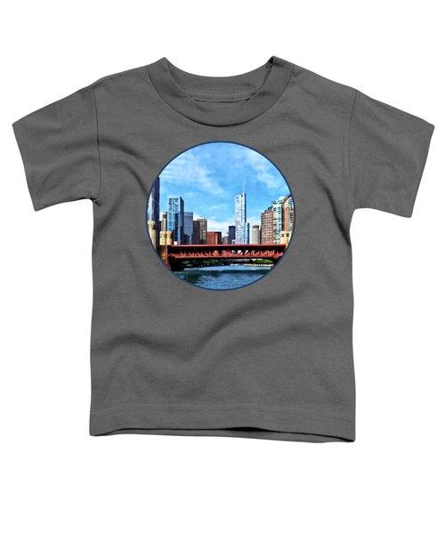 Chicago Il - Lake Shore Drive Bridge Toddler T-Shirt by Susan Savad