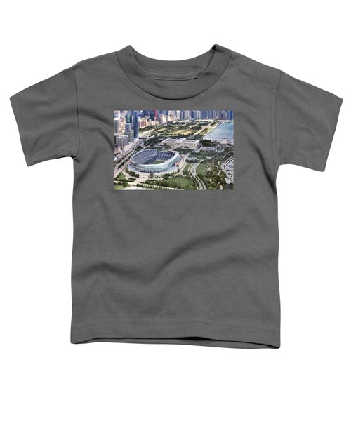 Chicago's Soldier Field Toddler T-Shirt by Adam Romanowicz