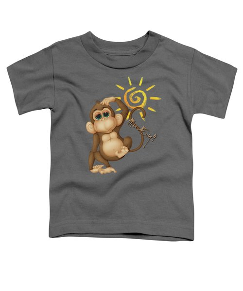 Chimpanzees, Mother And Baby Toddler T-Shirt by iMia dEsigN