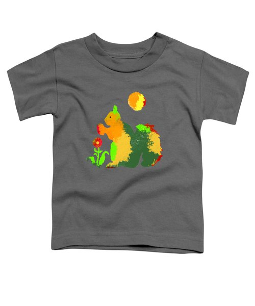 Colorful Squirrel 1 Toddler T-Shirt by Holly McGee