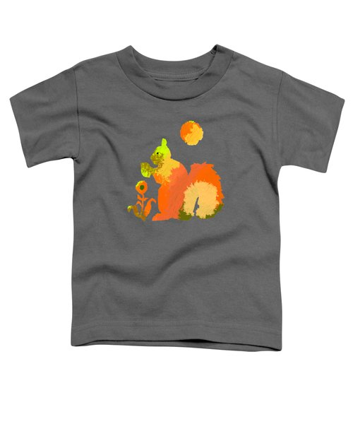 Colorful Squirrel 2 Toddler T-Shirt by Holly McGee
