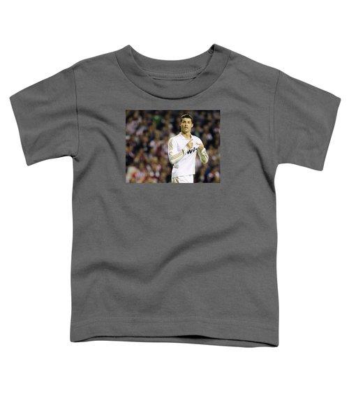 Cristiano Ronaldo 4 Toddler T-Shirt by Rafa Rivas