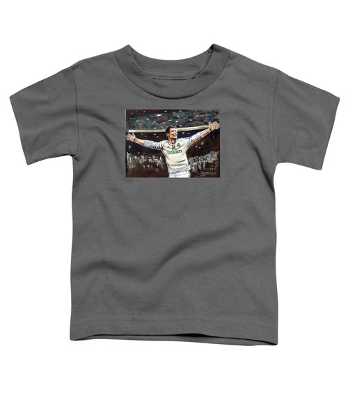 Cristiano Ronaldo Of Real Madrid Toddler T-Shirt by Dave Olsen