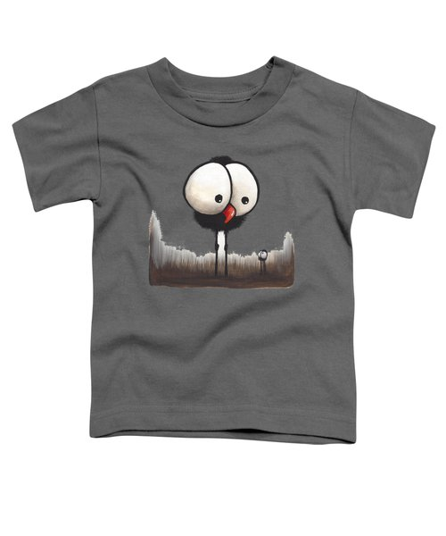 Defiant Little Spider Toddler T-Shirt by Lucia Stewart