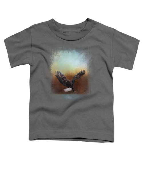 Eagle Hunting In The Marsh Toddler T-Shirt by Jai Johnson
