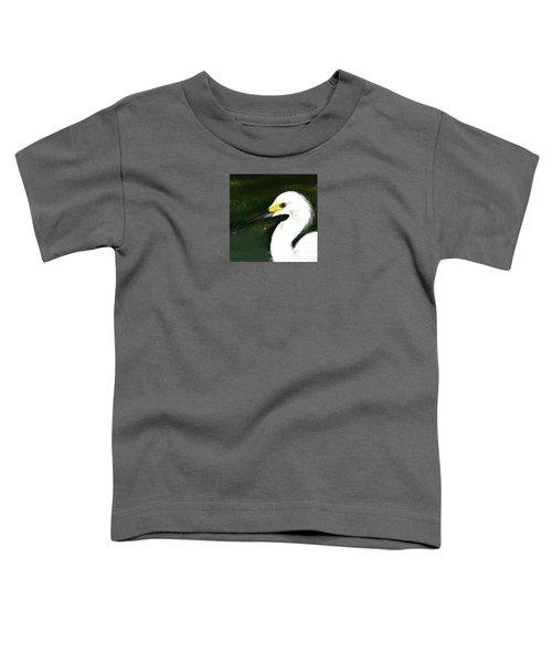 Egret Toddler T-Shirt by Beth Klock