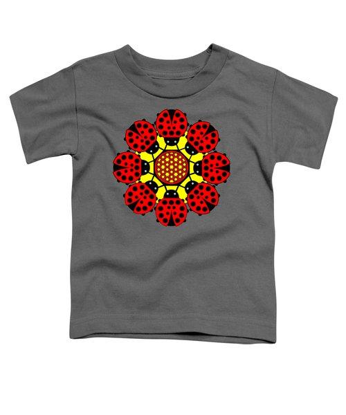 Eight Lucky Ladybirds Toddler T-Shirt by John Groves
