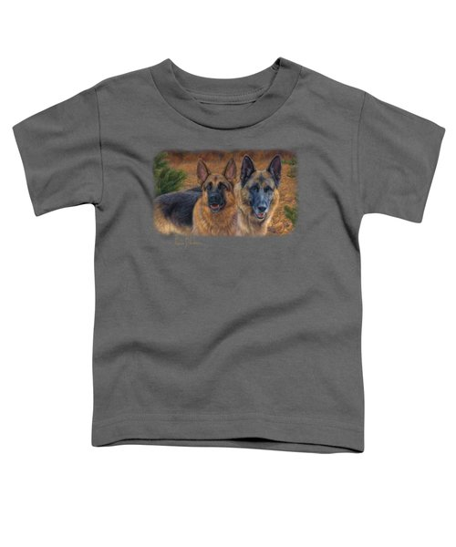 Enjoying The Fall Toddler T-Shirt by Lucie Bilodeau
